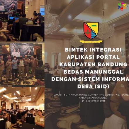 Bimtek Integrasi Aplikasi Portal Kabupaten Bandung Bedas Manunggal Dengan SID Sistem Informasi Desa